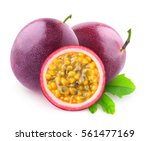 isolated maracuya. two whole... | Shutterstock . vector #561477169