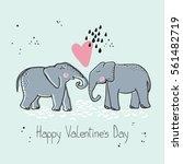 elephant in love | Shutterstock .eps vector #561482719