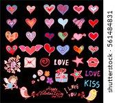 bright valentine s day... | Shutterstock .eps vector #561484831