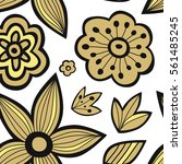 seamless pattern with flowers.... | Shutterstock .eps vector #561485245