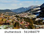 austrian village | Shutterstock . vector #561486079