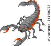 scorpion cartoon | Shutterstock .eps vector #561486739