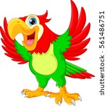 cute parrot cartoon | Shutterstock .eps vector #561486751