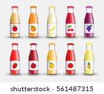 set juice in a transparent...   Shutterstock . vector #561487315