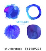 abstract bright blue vector... | Shutterstock .eps vector #561489235