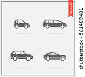 set of vector car icons
