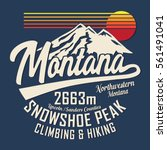 mountain hiking snow typography ... | Shutterstock .eps vector #561491041