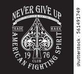 poker skull typography  tee... | Shutterstock .eps vector #561491749