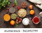 still life super food  ... | Shutterstock . vector #561492799