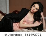 fashion interior photo of... | Shutterstock . vector #561493771