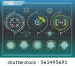 hud elements graph.vector... | Shutterstock .eps vector #561495691