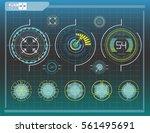 hud elements graph.vector...   Shutterstock .eps vector #561495691