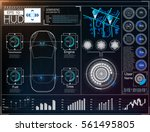 futuristic user interface. hud... | Shutterstock .eps vector #561495805
