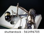 law concept with themis  symbol ... | Shutterstock . vector #561496705