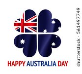 happy australia day with... | Shutterstock .eps vector #561497749