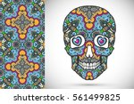 day of the dead colorful sugar... | Shutterstock .eps vector #561499825