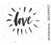 love lettering. hand drawn... | Shutterstock .eps vector #561499927