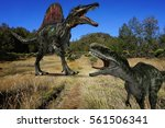 ancient concept. spinosaurus...   Shutterstock . vector #561506341