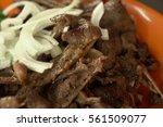 grilled lamb. | Shutterstock . vector #561509077