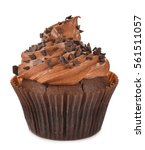 Chocolate Cupcakes Isolated On...