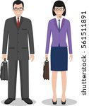couple of business american man ... | Shutterstock .eps vector #561511891