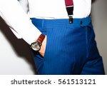 businessman luxury style. men... | Shutterstock . vector #561513121
