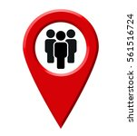 map pointer people | Shutterstock .eps vector #561516724
