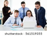 business people working with... | Shutterstock . vector #561519355