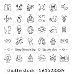 valentine icon set  flat design ...
