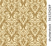 damask seamless pattern for... | Shutterstock .eps vector #561524269