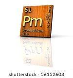 promethium form periodic table... | Shutterstock . vector #56152603