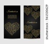 set of vertical banners .... | Shutterstock .eps vector #561530629