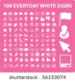 100 cute everyday signs. vector | Shutterstock .eps vector #56153074