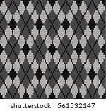knitted seamless pattern rhombus