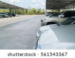 view of vehicles parked in car... | Shutterstock . vector #561543367
