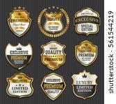 luxury premium golden labels... | Shutterstock .eps vector #561544219