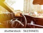 driving a car   Shutterstock . vector #561544651