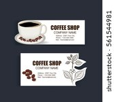 coffee card  vector desing | Shutterstock .eps vector #561544981