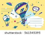 it is a boy. balloon with... | Shutterstock .eps vector #561545395
