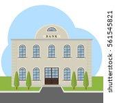 bank  bank building  facade ... | Shutterstock .eps vector #561545821