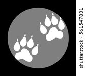 animal tracks sign. white icon... | Shutterstock .eps vector #561547831