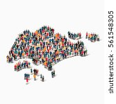 people map country singapore... | Shutterstock .eps vector #561548305