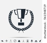 trophy cup with laurel wreath... | Shutterstock .eps vector #561548719