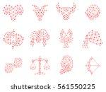 zodiac design. horoscope set ... | Shutterstock .eps vector #561550225