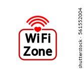 wifi zone icon  heart  flat...