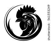 rooster circle tribal tattoo art | Shutterstock .eps vector #561553249