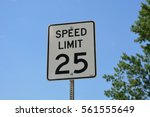 speed limit sign | Shutterstock . vector #561555649