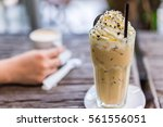 cookie frappe coffee in the... | Shutterstock . vector #561556051