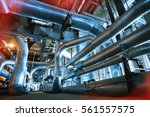 equipment  cables and piping as ... | Shutterstock . vector #561557575