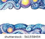 vector pattern. night sky with... | Shutterstock .eps vector #561558454